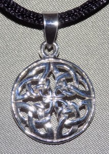 Sterling Silver Four Knot Celtic Knot Necklace