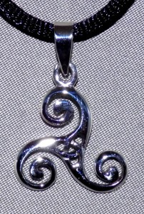 Sterling Silver Celtic Triskele Necklace