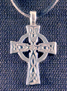 Celtic Cross Necklace with Trinity Knots