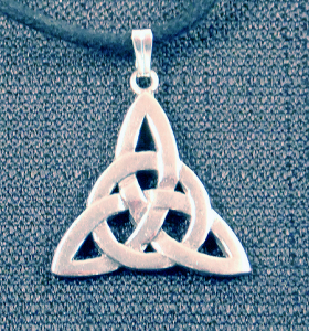 Celtic Circle Trinity Knot Necklace