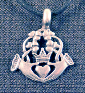 Irish Claddagh Pendant Necklace