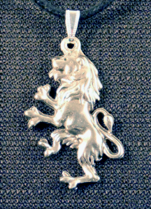 Scottish Rampant Lion Necklace