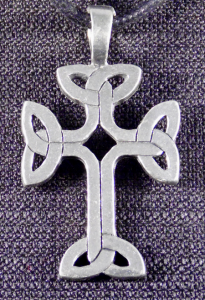 Celtic Cross with Trinity Knots