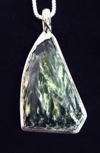 Seraphinite Sail Shape Pendant Necklace