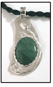 Ode To Scotland Imperial Jasper Necklace In Sterling Silver