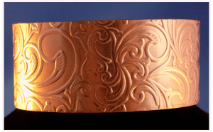Celtic Copper Cuff Bracelet with Paisley Pattern