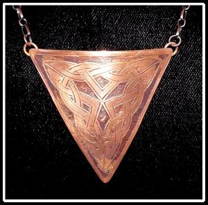 Triangle Copper Celtic Knot Necklace