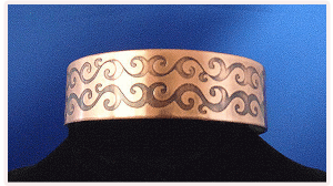 Copper Cuff Bracelet with Small Celtic Scroll Knots