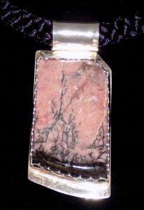 Rhodonite and Sterling Silver slider