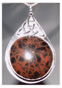 Spiderwoman Jasper in Sterling Silver with Trinity Knot