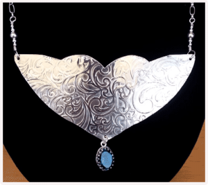 Sterling Silver Gorget with Topaz