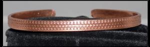 Thin embossed Copper Bracelet