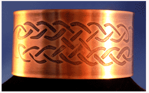 Wide Celtic Copper Cuff bracelet with Celtic Knot